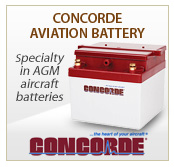 Concorde Aviation Battery