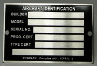 Aircraft Identification Tags