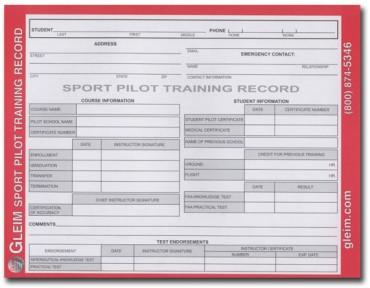 GLEIM SPORT PILOT TRAINING RECORDS