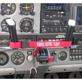REMOVE BEFORE FLIGHT AIRPLANE CONTROL LOCK FOR PIPERS