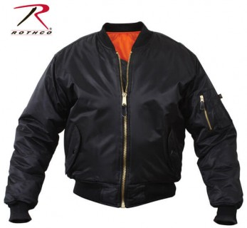 ULTRA FORCE BLACK MA-1 FLIGHT JACKET from Aircraft Spruce Canada