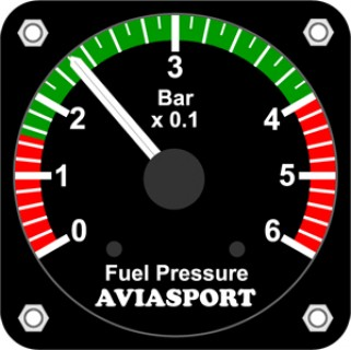 Aviasport rotax 912 fuel pressure gauge bar 2 14 in from click image for a larger view thecheapjerseys Choice Image