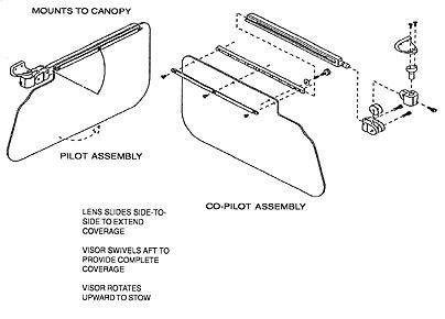ROSEN SUN VISOR SYSTEMS from Aircraft Spruce Canada bc7fc2c799e