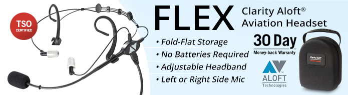 FLEX Aviation Headset by Clarity Aloft