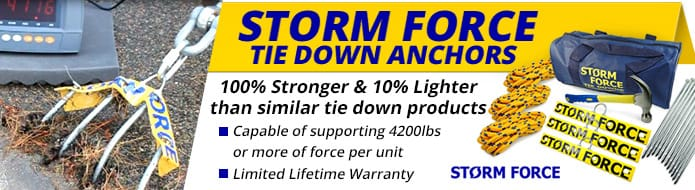STORMFORCE TIE DOWN ANCHORS